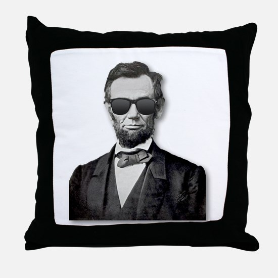 Shady Abe Throw Pillow