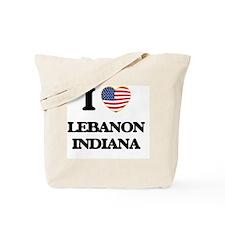 I love Lebanon Indiana Tote Bag