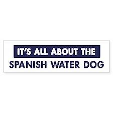 About SPANISH WATER DOG Bumper Bumper Sticker