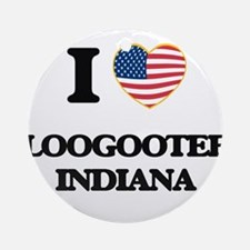 I love Loogootee Indiana Ornament (Round)