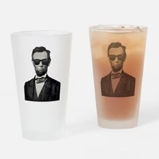 Funny Abraham lincoln Drinking Glass