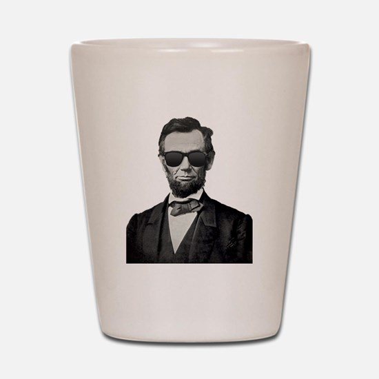 Cute President lincoln Shot Glass