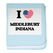 I love Middlebury Indiana baby blanket