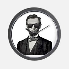 Shady Abe Wall Clock