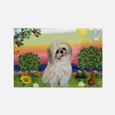 Shih Tzu in Bright Country Rectangle Magnet