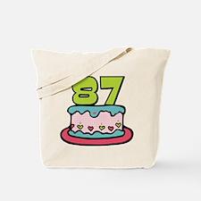 87 Year Old Birthday Cake Tote Bag