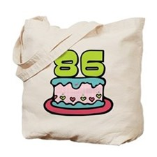 86 Year Old Birthday Cake Tote Bag