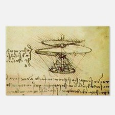 DaVinci Flying Machine Postcards (Package of 8)