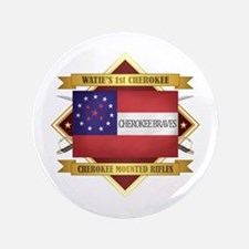 Cherokee Mounted Rifles Button