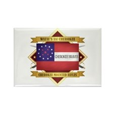 Cherokee Mounted Rifles Magnets