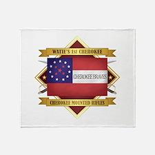 Cherokee Mounted Rifles Throw Blanket