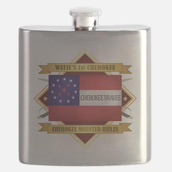 Cherokee Mounted Rifles Flask