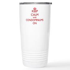 Keep Calm and Condomini Travel Coffee Mug