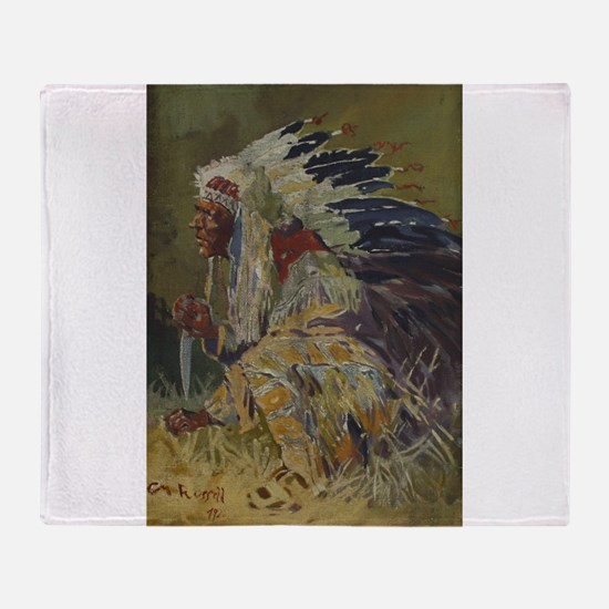 native americans Throw Blanket