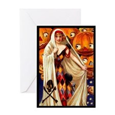 Harlequin Pumpkins Greeting Card