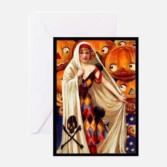 Harlequin Pumpkins Greeting Card