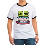 82 Year Old Birthday Cake Ringer T