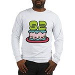 82 Year Old Birthday Cake Long Sleeve T-Shirt
