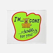 Doggone Daffy Throw Blanket