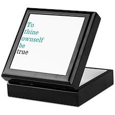 To thine ownself Keepsake Box