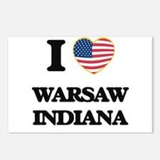 I love Warsaw Indiana Postcards (Package of 8)