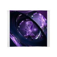 Cute Purple butterfly Throw Blanket