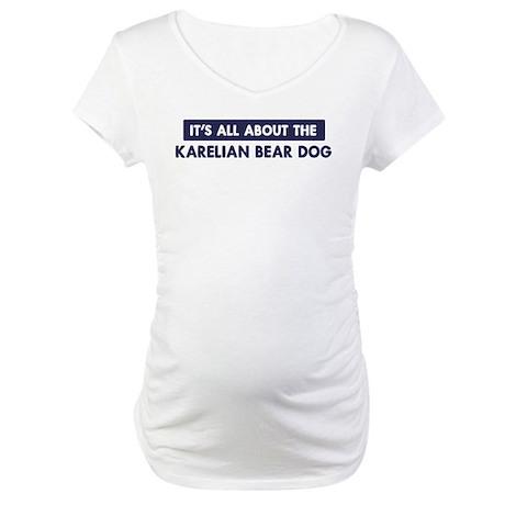 About KARELIAN BEAR DOG Maternity T-Shirt