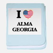 I love Alma Georgia baby blanket