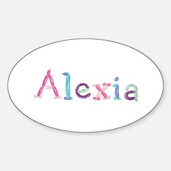 Alexia Princess Balloons Oval Decal