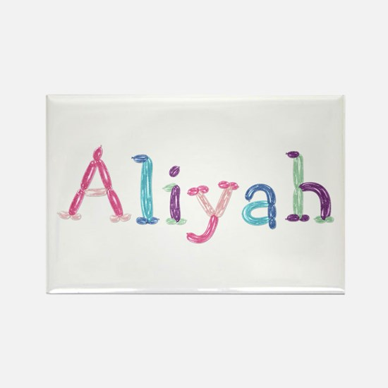 Aliyah Princess Balloons Rectangle Magnet