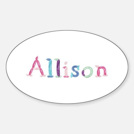 Allison Princess Balloons Oval Decal