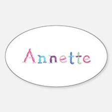Annette Princess Balloons Oval Decal