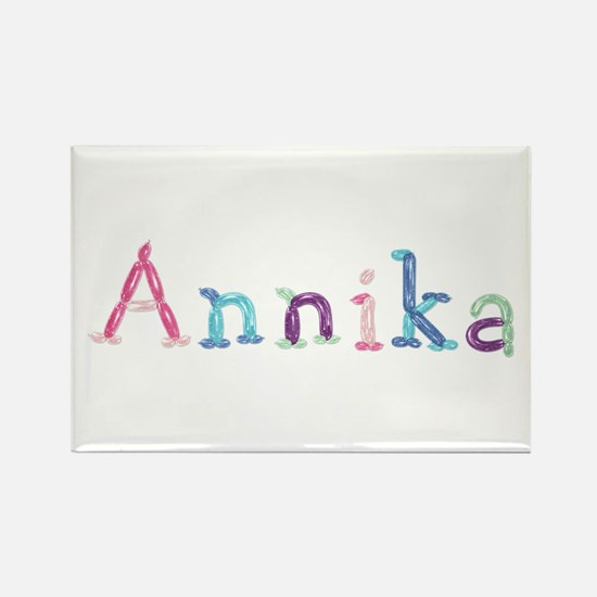 Annika Princess Balloons Rectangle Magnet