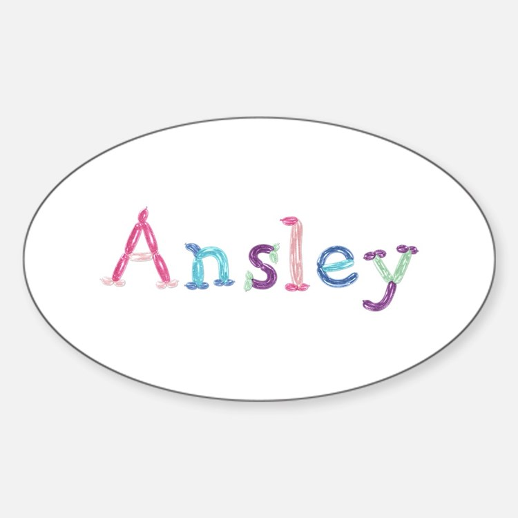 Ansley Princess Balloons Oval Decal
