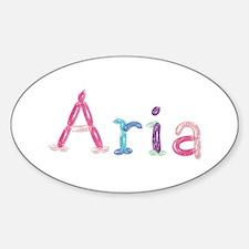 Aria Princess Balloons Oval Decal