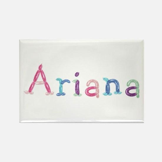 Ariana Princess Balloons Rectangle Magnet
