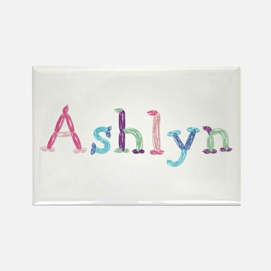 Ashlyn Princess Balloons Rectangle Magnet