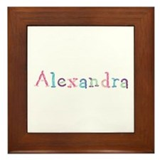 Alexandra Princess Balloons Framed Tile