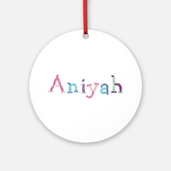 Aniyah Princess Balloons Round Ornament