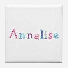 Annalise Princess Balloons Tile Coaster