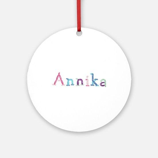 Annika Princess Balloons Round Ornament