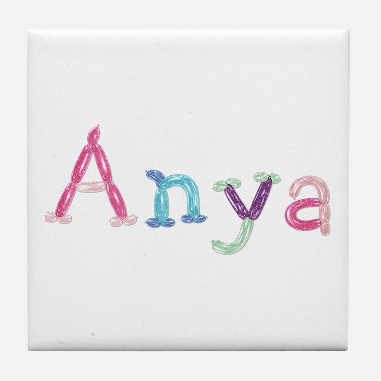 Anya Princess Balloons Tile Coaster
