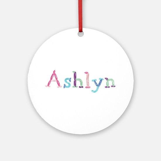 Ashlyn Princess Balloons Round Ornament