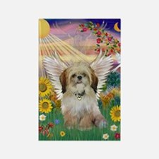 Autumn Sun & Shih Tzu Rectangle Magnet