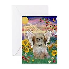Autumn Sun & Shih Tzu Greeting Card