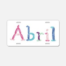 Abril Princess Balloons Aluminum License Plate