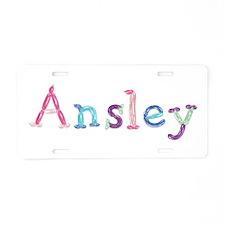 Ansley Princess Balloons Aluminum License Plate