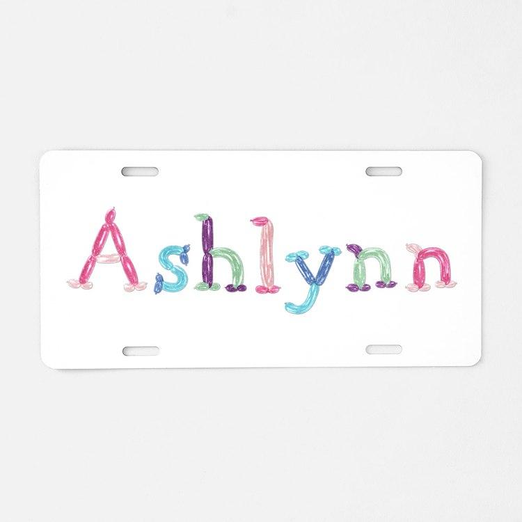 Ashlynn Princess Balloons Aluminum License Plate