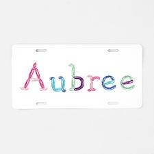 Aubree Princess Balloons Aluminum License Plate