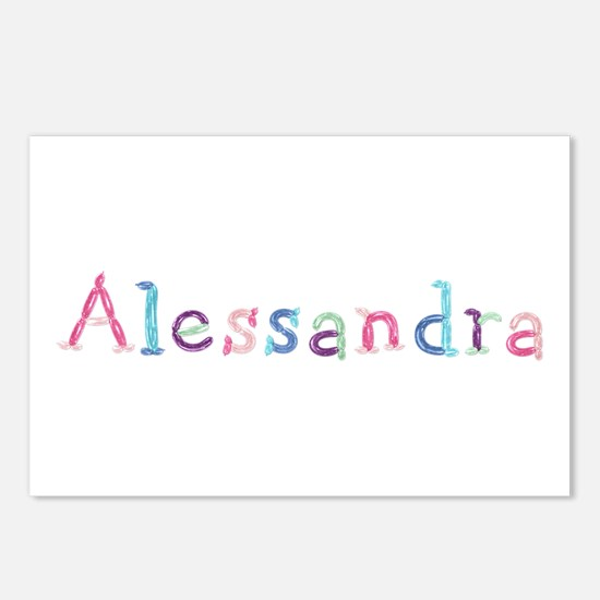 Alessandra Princess Balloons Postcards 8 Pack